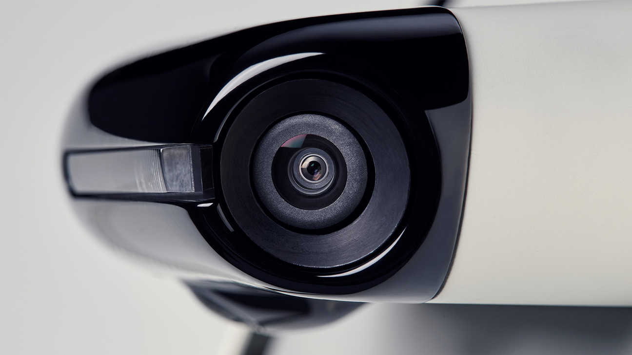 Close up of Side Camera Mirror System.